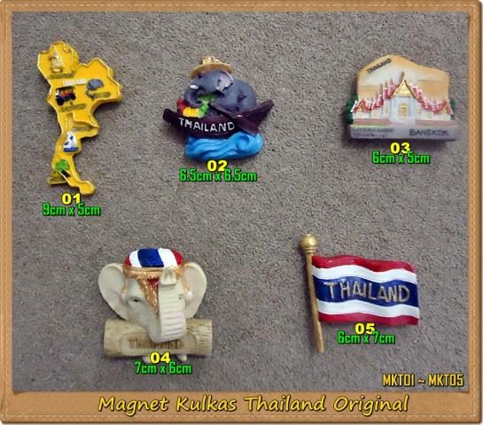 Souvenir Thailand Magnet Kulkas MKT01~MKT05