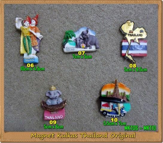 Souvenir Thailand Magnet Kulkas MKT06~MKT10