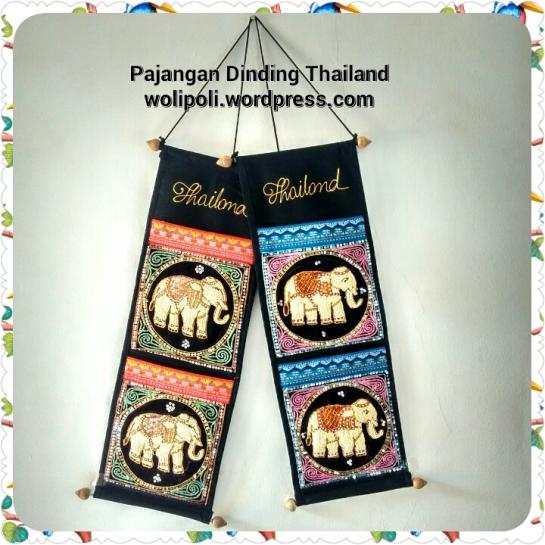 Pajangan Hiasan Dinding Payet Gajah Thailand