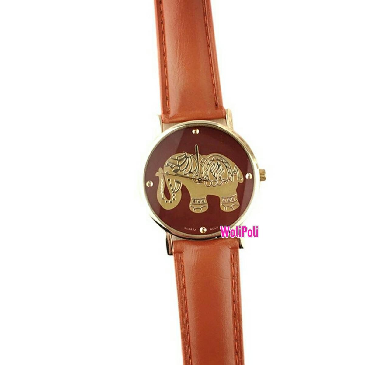 Jam Tangan Gajah Warna Coklat Import (JTG-09) | WoliPoli