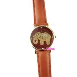 Jam Tangan Gajah Warna Coklat Import(JTG-09)