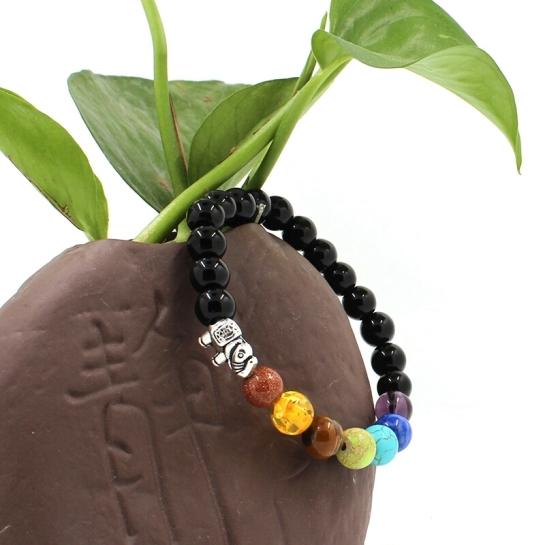 Gelang Gajah Natural Crystal Stone Yoga