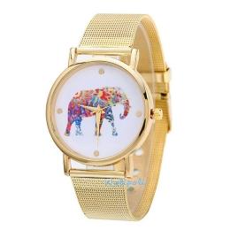 Jam Tangan Gajah Abstract Luxury Gold Colour Import(JTG-10)