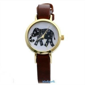 Jam Tangan Gajah Warna Coklat