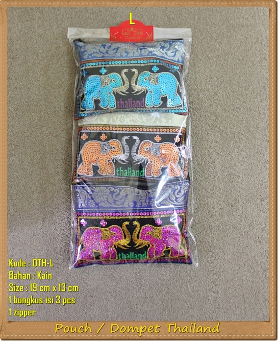 Dompet Pouch Gajah Thailand
