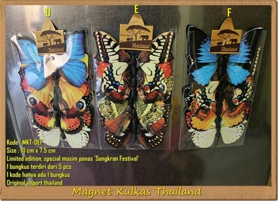 Magnet Kulkas Thailand Kupu-Kupu