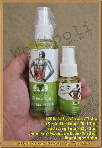 Herbal Spray Erawadee Thailand N60