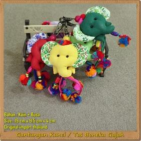 Gantungan Kunci Boneka Gajah Thailand