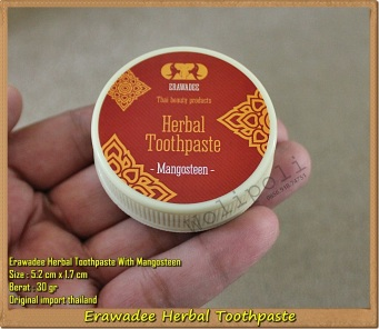 Erawadee Thailand Herbal Toothpaste Mangosteen