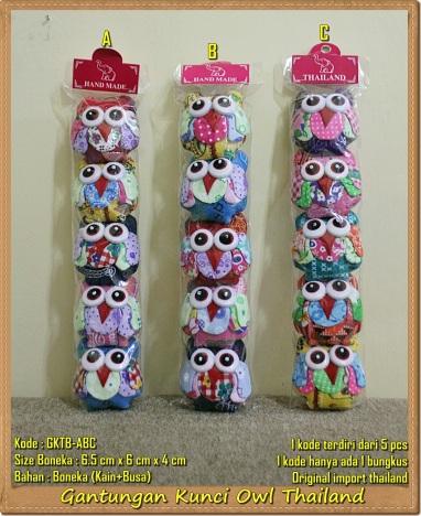 Gantungan Kunci Thailand Boneka Owl