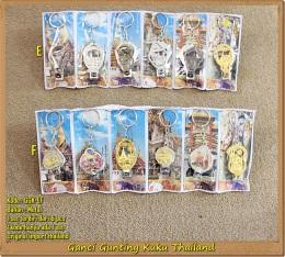 Jual Gantungan Kunci Thailand Model Gunting Kuku Isi 6 Aneka Motif Edisi April2019